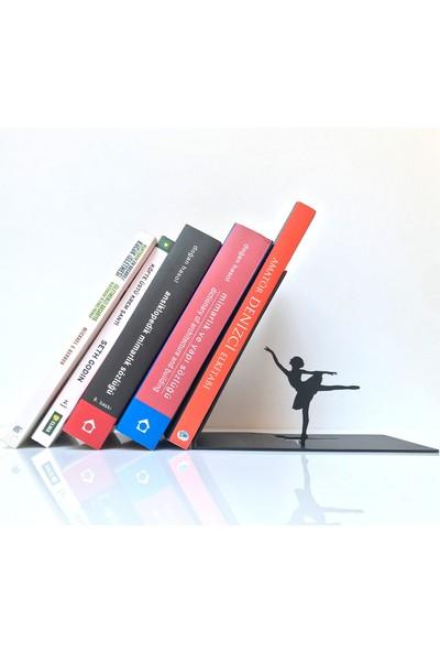 Bsign Kitaplık, Masa Veya Raf Için Dekoratif Balerin Figürlü Kitaplık, Kitap Tutacağı