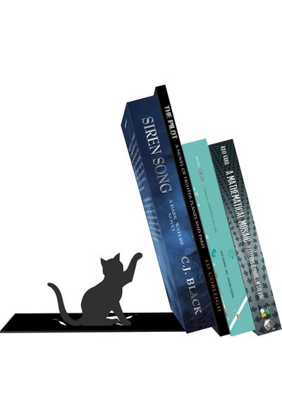Bsign Kitaplık, Masa Veya Raf Için Dekoratif Kedi Figürlü Kitaplık, Kitap Tutacağı