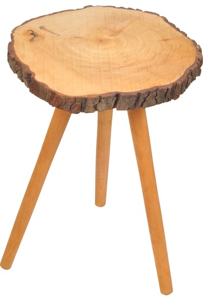Wood Good Kütük Zigon Sehpa (52 Cm*40 Cm)