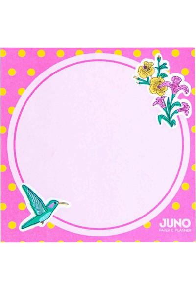 Juno Paper Masaüstü Planlayıcı 10 x 10 Bloknot / Floral