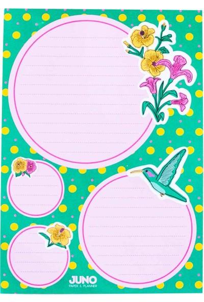 Juno Paper Masaüstü Planlayıcı A5 Bloknot / Floral