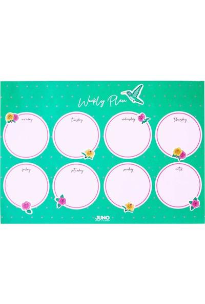 Juno Paper A4 Masaüstü Planlayıcı / Floral