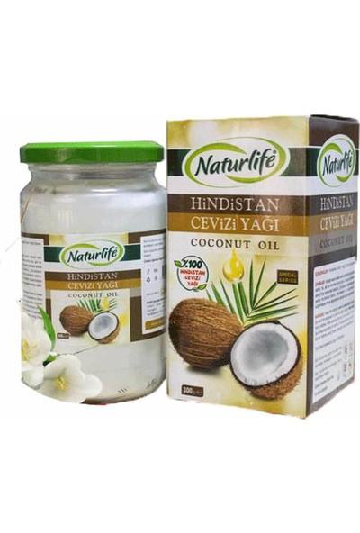 Naturlife Hindistan Cevizi Yağı %100 Doğal Soğuk Sıkım Cocos Nucifera Coconut Oil