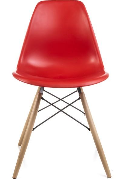 Dorcia Home Kırmızı Eames Sandalye
