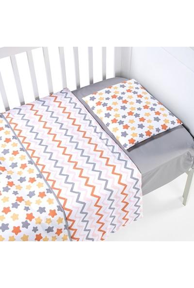 Funna Baby Nevresim Takımı - Stella Sarı - 4 Parça - KOD:9619
