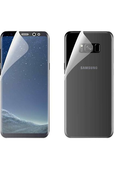 Monsterskin Samsung S8 Ön Arka Darbeye Dayanıklı Tam Koruma Şeffaf Ekran Koruyucu
