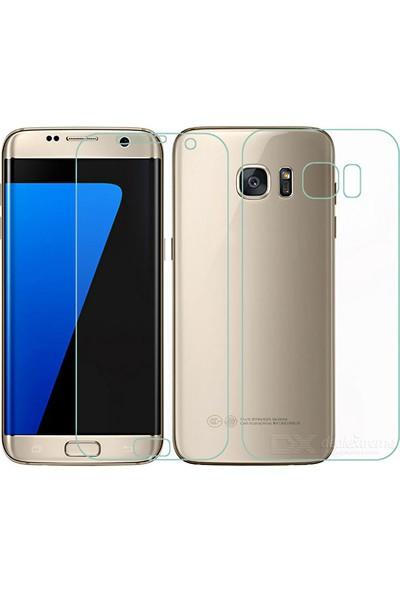 Monsterskin Samsung Galaxy S7 Edge Ön Arka Darbeye Dayanıklı Tam Koruma Ekran Koruyucu - Şeffaf