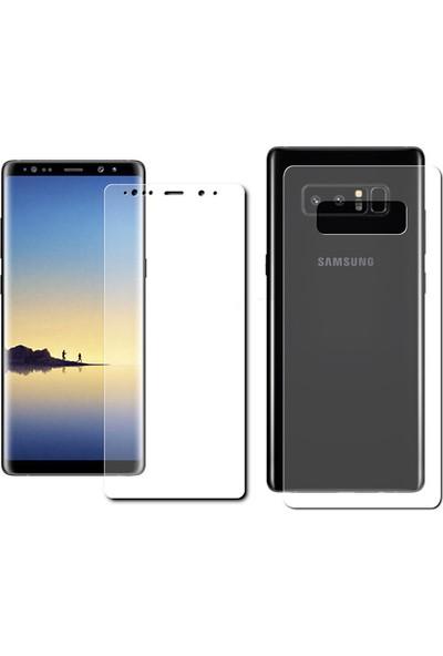 Monsterskin Samsung Galaxy Note 8 Ön Arka Darbeye Dayanıklı Tam Koruma Şeffaf Ekran Koruyucu