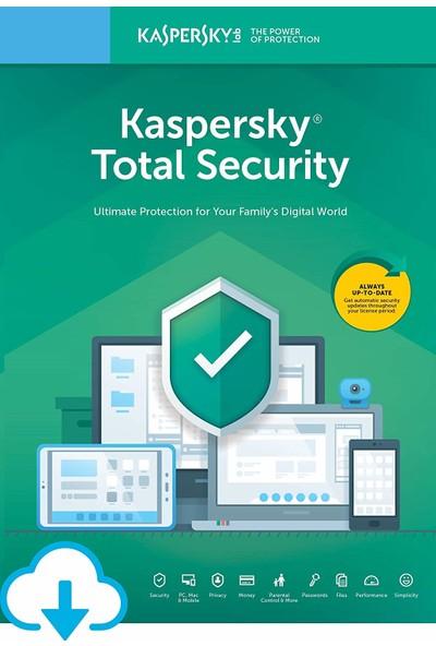 Kaspersky Total Security 1 Kullanıcı 1 Yıl Türkçe Virüs Programı