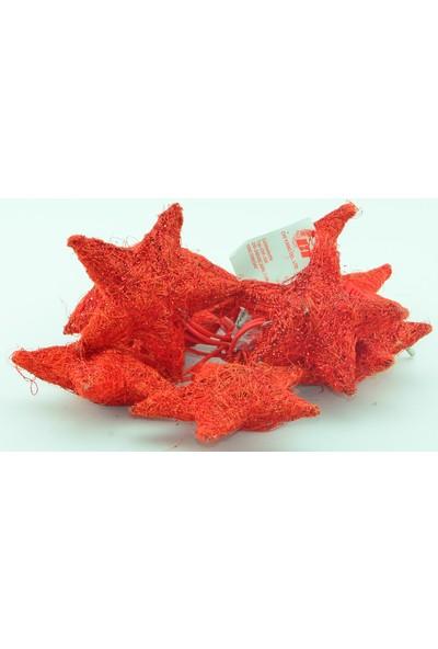Epapack Dekoratif Simli 10'lu Yıldız Işık Kırmızı