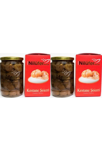 Nilüfer Kestane Şekeri Glikozsuz Cam Kavanoz 1,1kg 2'li