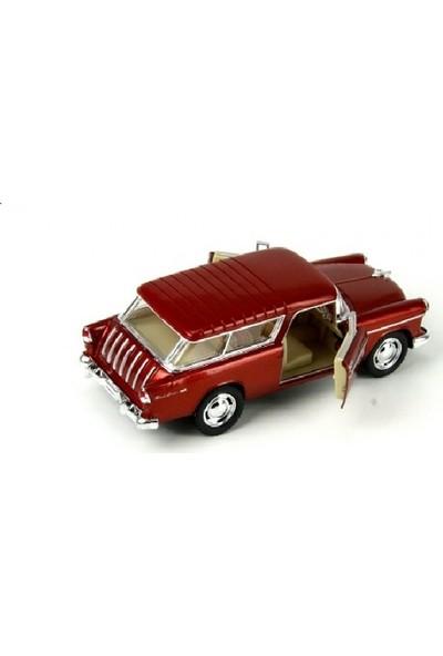 Kinsmart 1955 Chevy Nomad 1:40 Diecast Çek Bırak Araba -Bordo