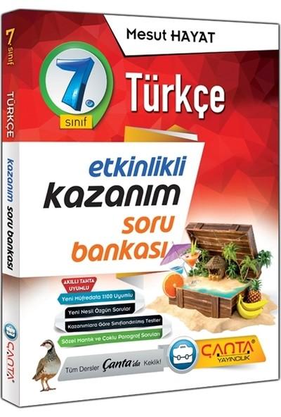 Çanta Yayınları 7.sınıf Türkçe Etkinlikli Kazanım Soru Bankası 2020