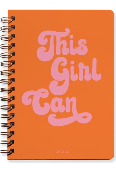 Fabooks This Girl Can Undated Planner