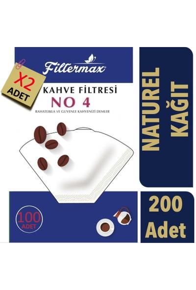 Filter Max Kahve Filtre Kağıdı (Naturel) 4 Numara 200 Adet