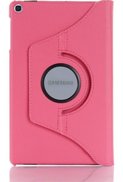"GoGo Samsung Galaxy Tab A 8.0"" T290/295/297 360 Derece Döner Tablet Kılıf Penbe"