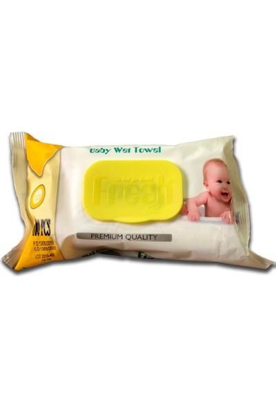 Fresh Baby - Bebek Islak Havlu Kapaklı 100LÜ-24PAKET-2400AD