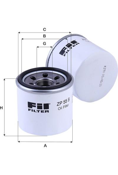 Real Filter Nissan Primera 1.6-1.8-2.0 (1996-) Yağ Filtresi-152083J400-1520865F00-W67/1-Oc195-Op595