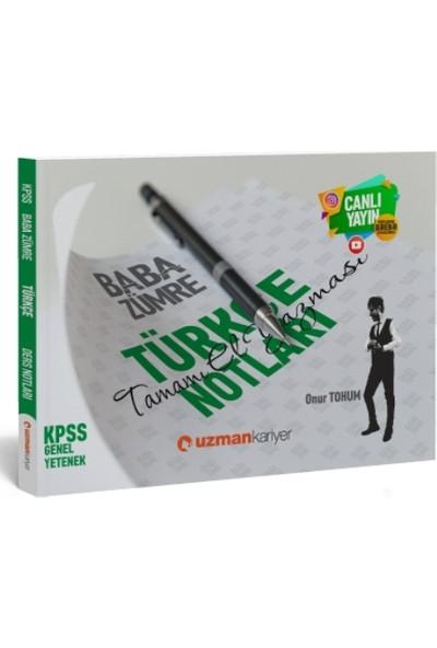 KPSS Baba Zümre 2020 Türkçe Notları