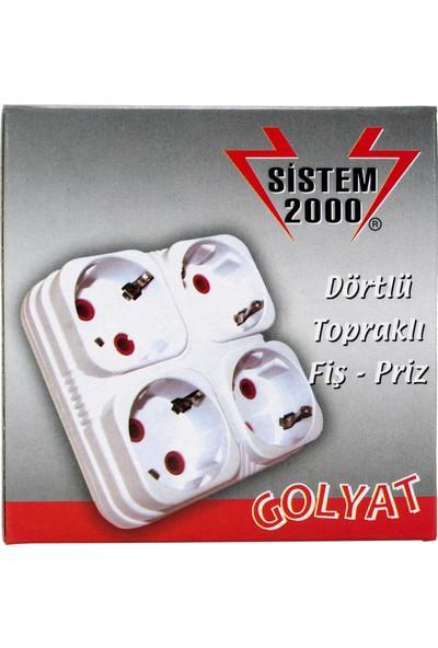 Sistem 2000 4'lü Golyat Priz Çoğaltıcı