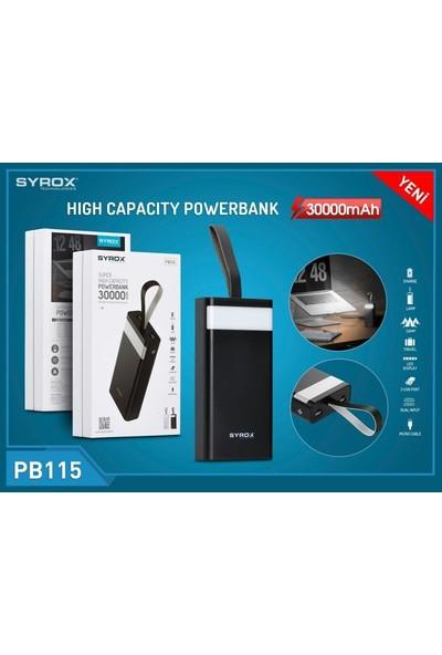 Syrox PB115 30000mAh Taşınabilir Şarj Cihazı