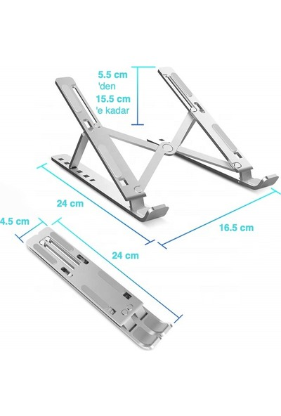 iDock N29-3 Katlanır Alüminyum Notebook Standı