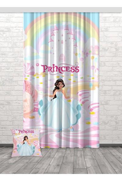 Bella Home Prenses Desenli Kız Çocuk Odası Dijital Baskılı Fon Perde