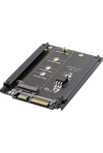 Alfais 4358 B+M Key M.2 NGFF SSD To 2.5 HDD Harddisk Kutusu