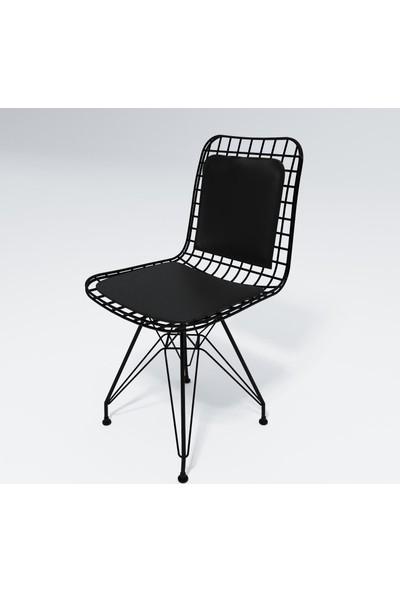 Knsz kafes tel sandalyesi 4 lü mazlum syhsyh sırt minderli ofis cafe bahçe mutfak