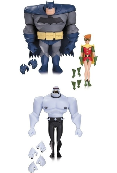 Dc Collectibles Bas Batman Robin Mutant 3 Pack Action Figure Set