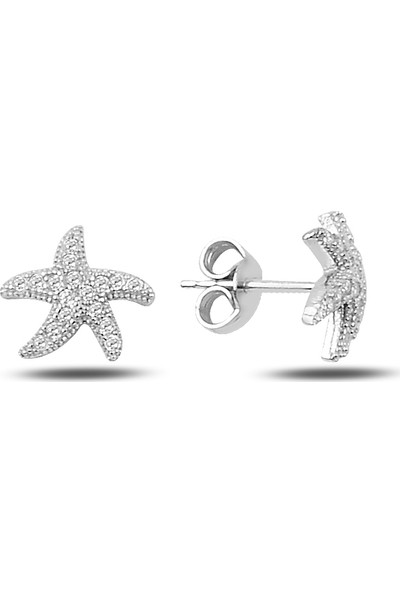 Mercan Silver Gümüş Deniz Yıldızı Küpe