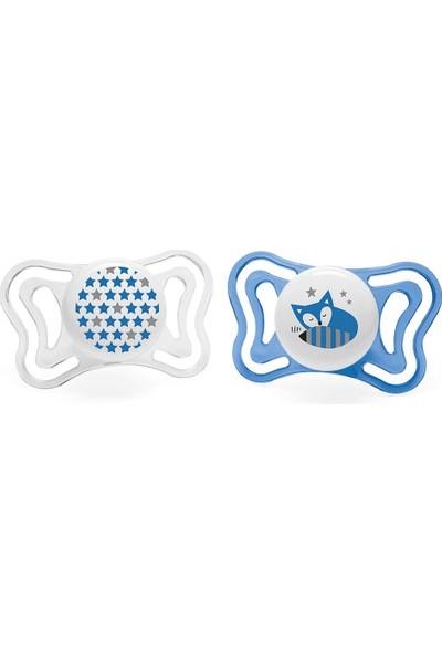 Chicco Physio Light Silikon Emzik 2li 6-16 Ay Erkek