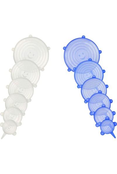Tazeliği Koruyan 6 Lı Silikon Strech Kapaklar - Silikon Kapak