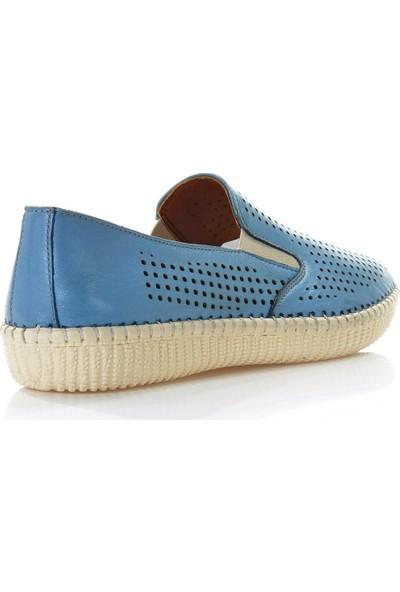 Vizon Ayakkabı Kadın Mavi Günlük Ayakkabı VZN-107Y