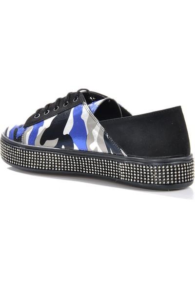 Vizon Ayakkabı Kadın Mavi Spor Ayakkabı VZN-175Y