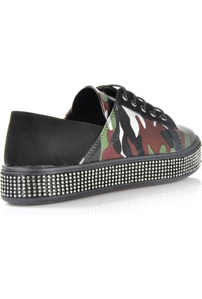 Vizon Ayakkabı Kadın Yeşil Spor Ayakkabı VZN-175Y