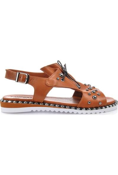 Vizon Ayakkabı Kadın Taba Sandalet VZN-217Y
