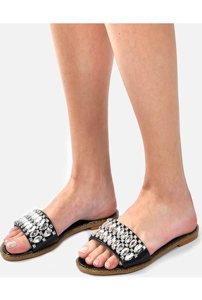 Vizon Ayakkabı Kadın Siyah Terlik VZN-246Y