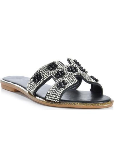 Vizon Ayakkabı Kadın Siyah Terlik VZN-266Y