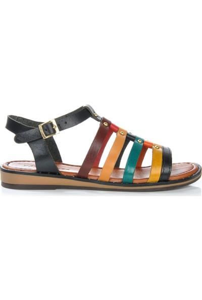 Vizon Ayakkabı Kadın Siyah Sandalet VZN-277Y