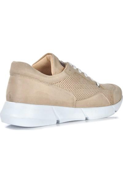 Vizon Ayakkabı Kadın BEJ-SÜET Spor Ayakkabı VZN-279Y