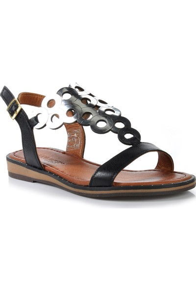 Vizon Ayakkabı Kadın Siyah Sandalet VZN-282Y