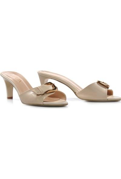 Vizon Ayakkabı Kadın Krem Terlik VZN-320Y