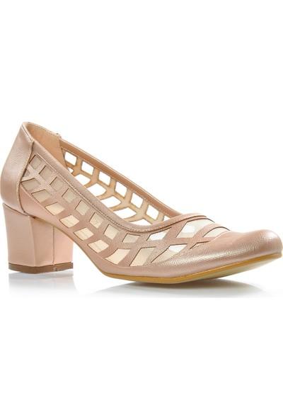Vizon Ayakkabı Kadın Rose Klasik Topuklu Ayakkabı VZN-338Y