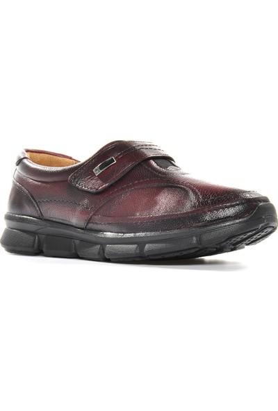 Vizon Ayakkabı Kadın Bordo Günlük Ayakkabı VZN19-006K