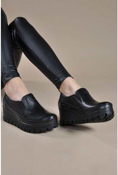 Vizon Ayakkabı Kadın Siyah Günlük Ayakkabı VZN19-008K