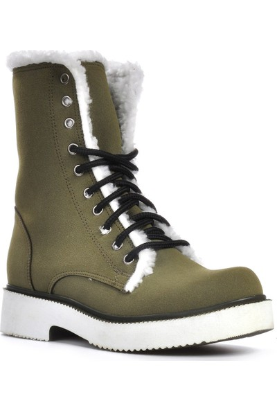 Vizon Ayakkabı Kadın Haki-Nubuk Bot VZN19-009K
