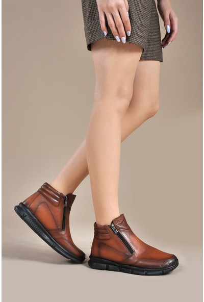 Vizon Ayakkabı Kadın Taba Bot VZN19-013K
