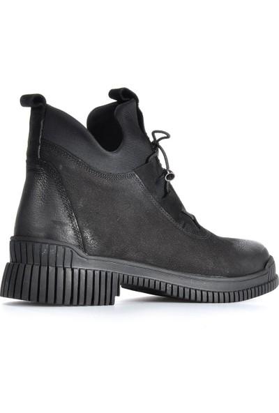 Vizon Ayakkabı Kadın Siyah Bot VZN19-018K