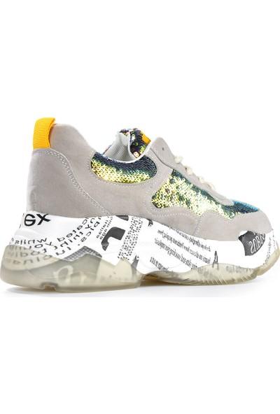 Vizon Ayakkabı Kadın Bej Spor Ayakkabı VZN19-024K